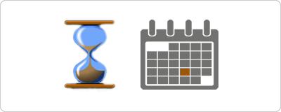 clessidra e calendario